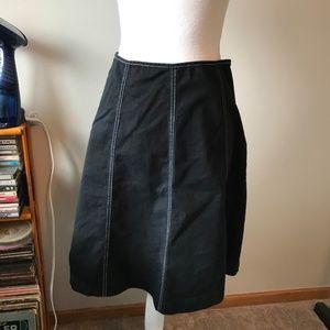 Hanna Andersson Black denim Aline Skirt sz 8